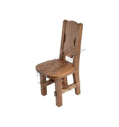 Деревянный стул под старину из массива сосны Рошфор