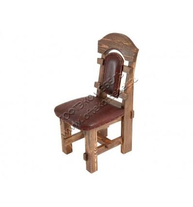 Деревянный стул под старину из массива сосны Ришелье мягкий