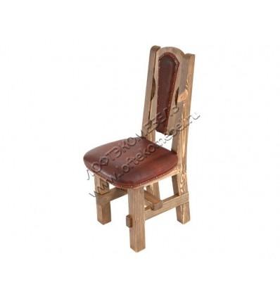Деревянный стул под старину из массива сосны Рошфор мягкий