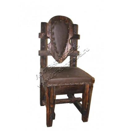 Деревянный стул из массива сосны Замок
