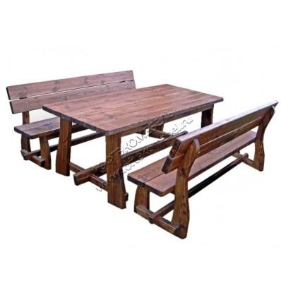 Комплект мебели под старину из массива сосны Пикник