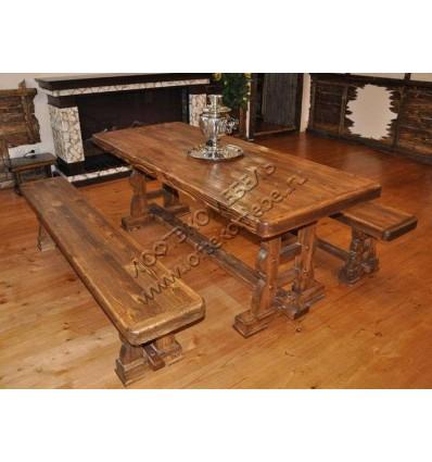 Комплект мебели под старину из массива сосны Усадьба