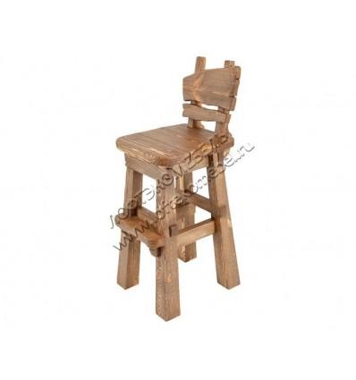 Деревянный стул барный под старину из массива сосны Охотник