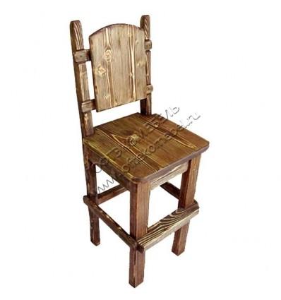 Барный стул из массива сосны Лесник