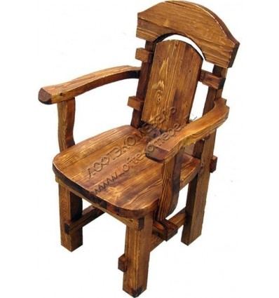 Деревянное кресло под старину из массива сосны Ришелье