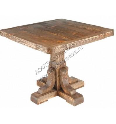 Квадратный стол из сосны Ришелье