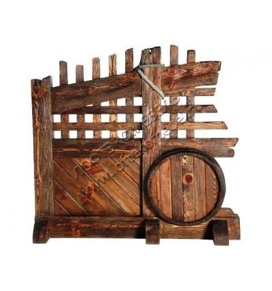 Перегородка из дерева под старину Бочка