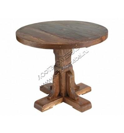 Деревянный стол Рошфор круглый