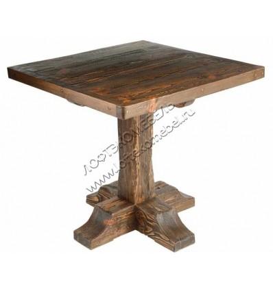 Деревянный стол Рыбак квадратный